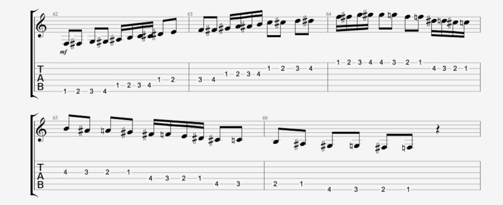 exercice guitare chromatique 10
