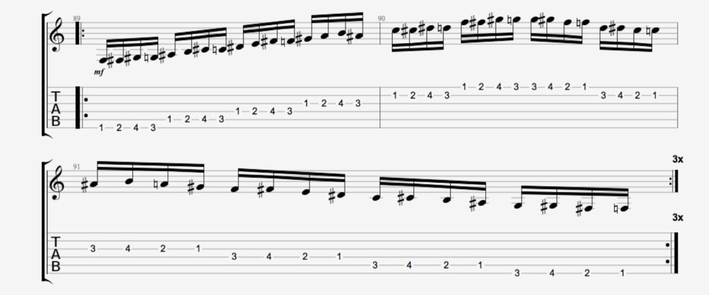 exercice guitare chromatique 15