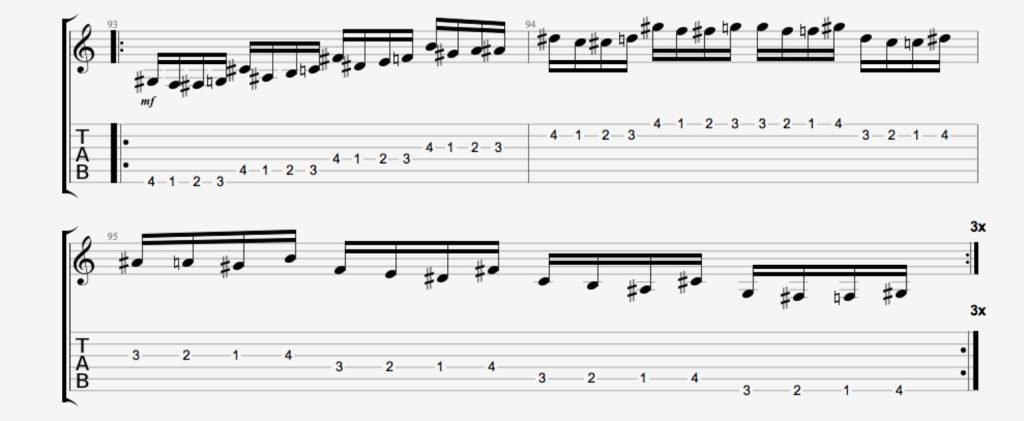exercice guitare chromatique 16