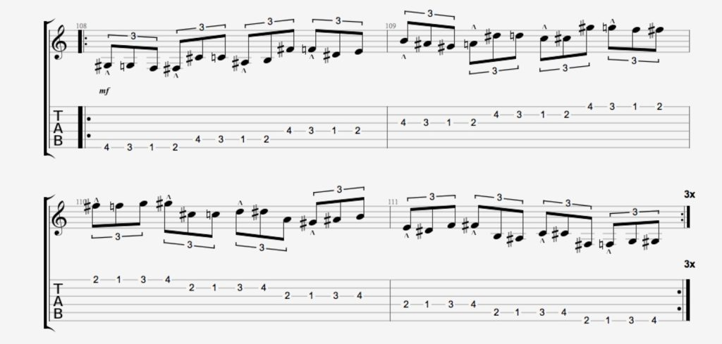 exercice guitare chromatique 19