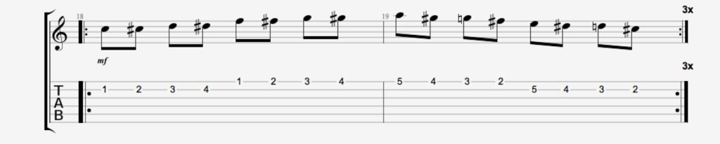 exercice guitare chromatique 4