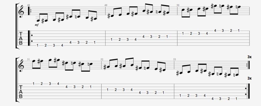 exercice guitare chromatique 8