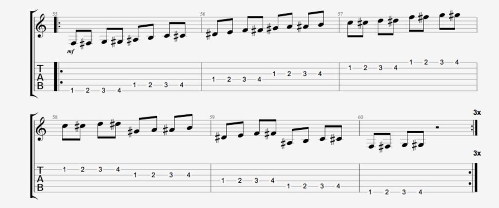 exercice guitare chromatique 9