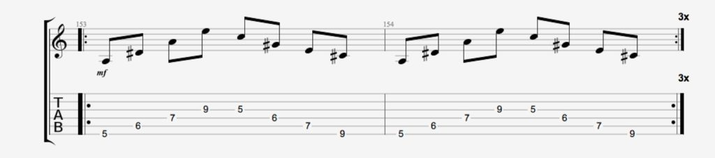 exercice guitare spider 3