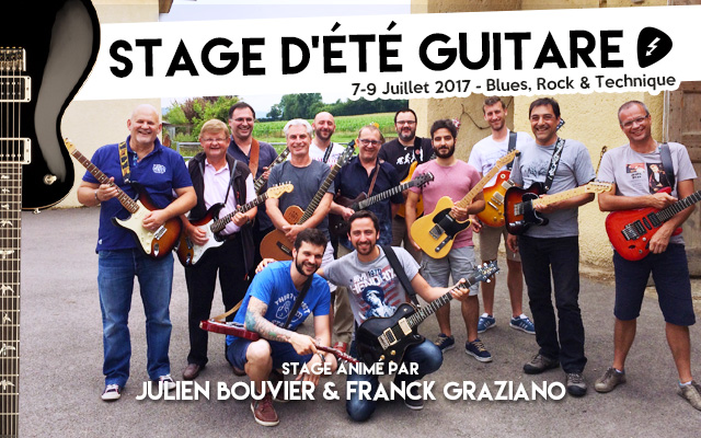 stage de guitare avec franck graziano