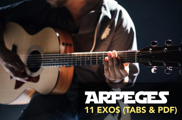 exercice arpège guitare débutant