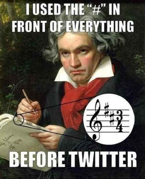 blague hashtag beethoven twitter
