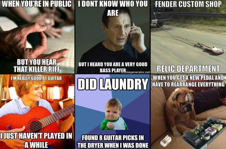 blague musicien et guitariste