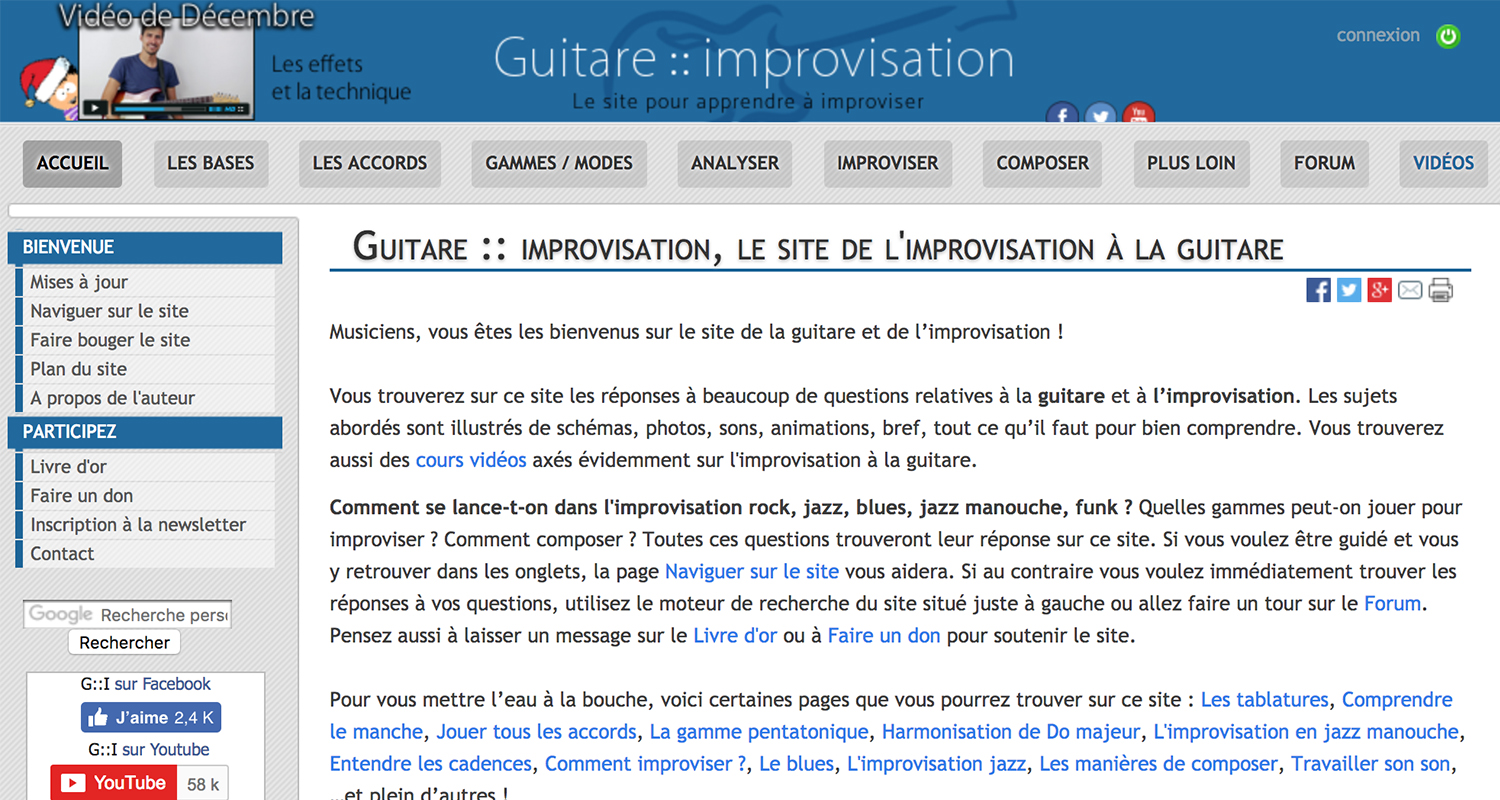 blog guitare improvisation