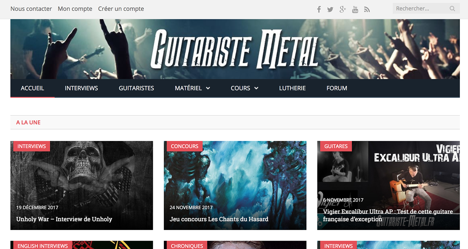 site sur la guitare metal