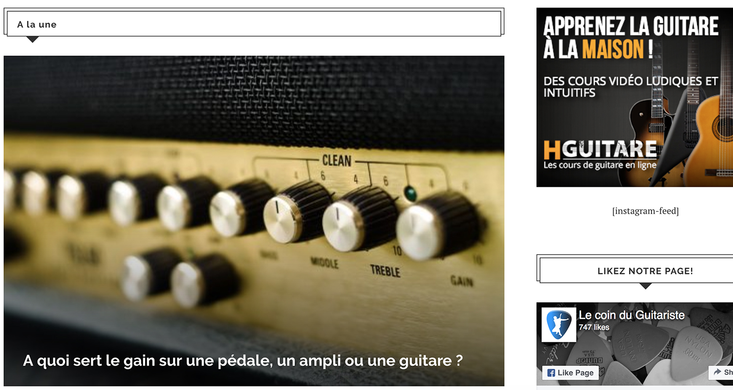 blog le coin du guitariste