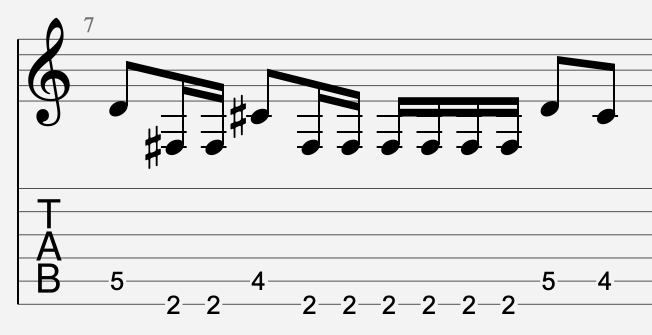 tablature de type guitar pro