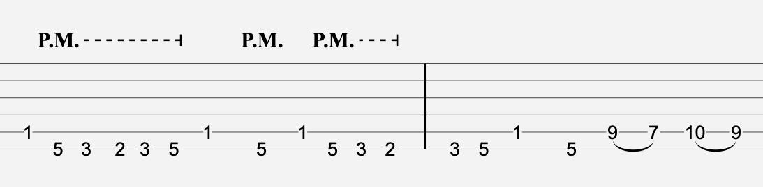 aperçu d'une tablature de guitare