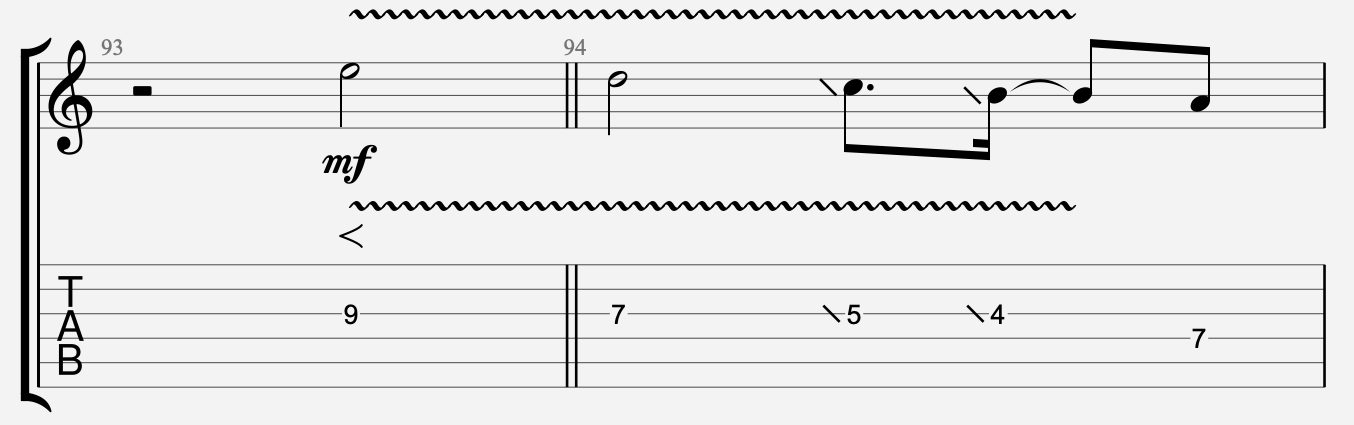 lire les notes tablature