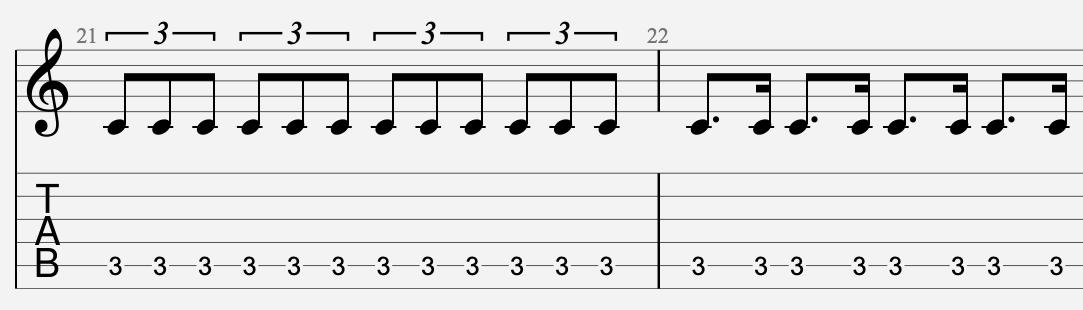 débits rythmiques spéciaux guitare