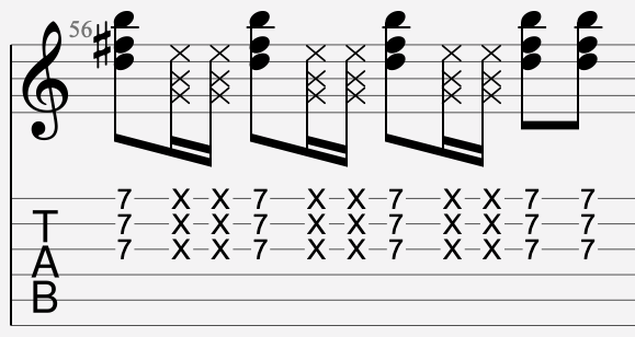 dead note tablature