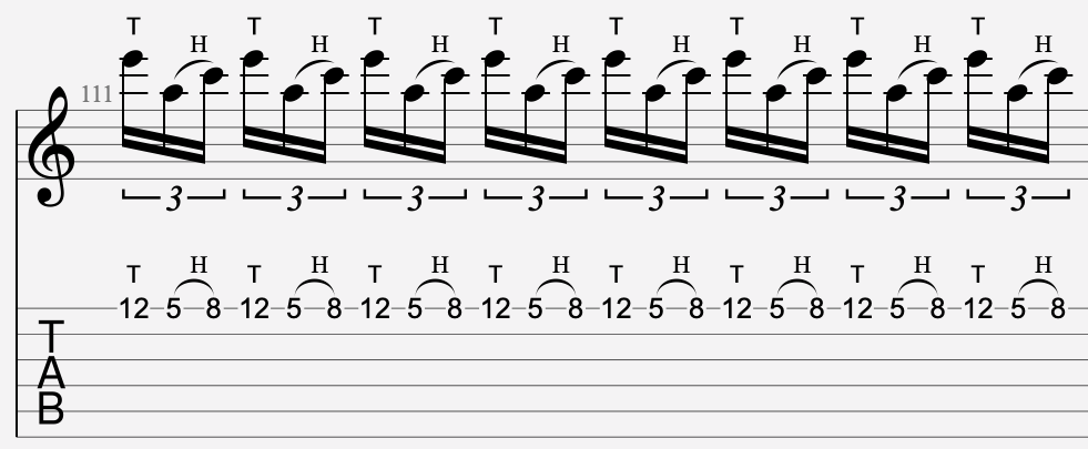 tapping partition guitare