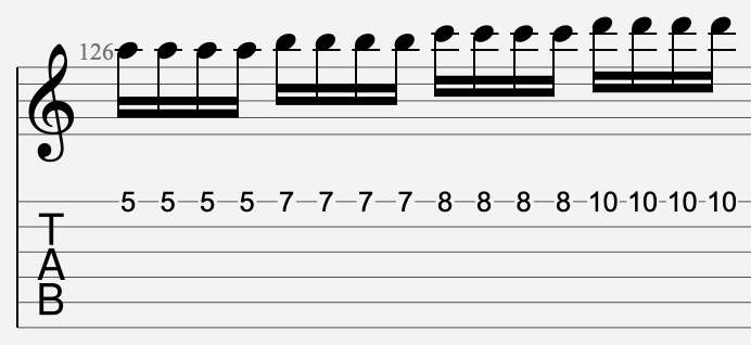 tremolo standard tablature