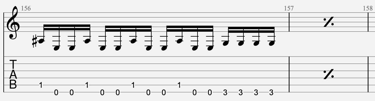 répétition mesure suivante partition