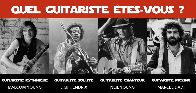différents types de guitaristes