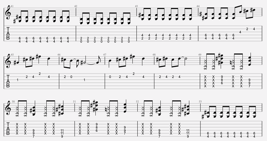 tablature guitare indochine