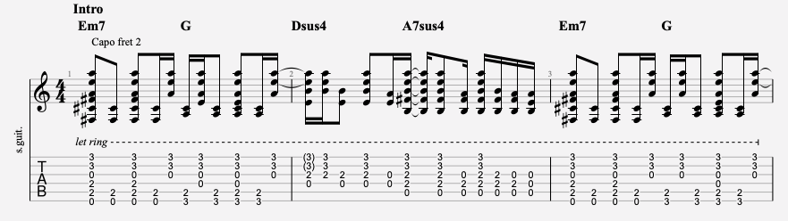 tablature wonderwall oasis