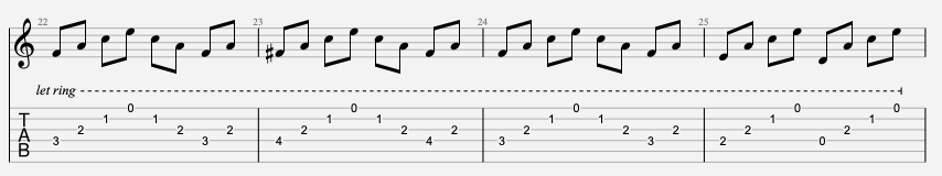tablature facile pink floyd