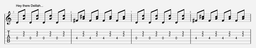 tablature guitare plain white ts