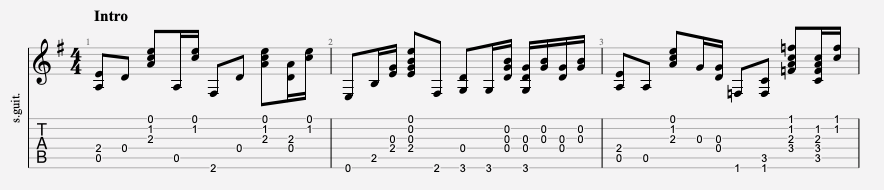 tablature guitare facile radiohead