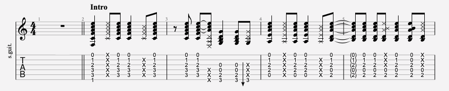 tablature guitare facile rem