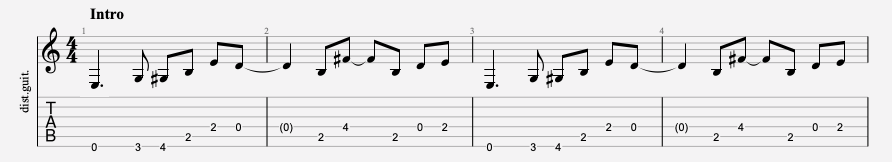 tablature facile the beatles