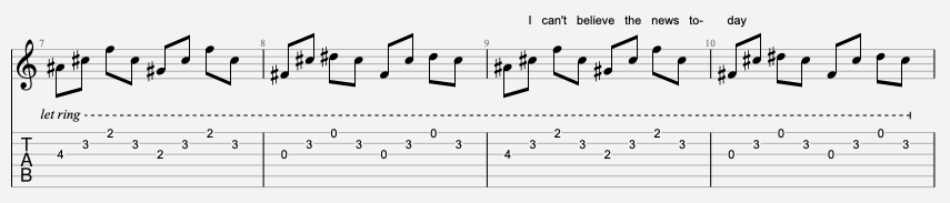 tablature guitare u2