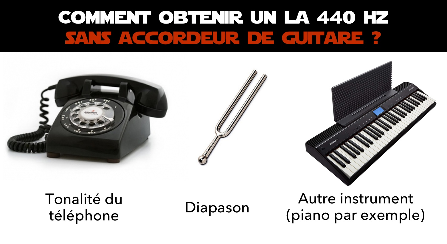 la 440 hz sans accordeur guitare