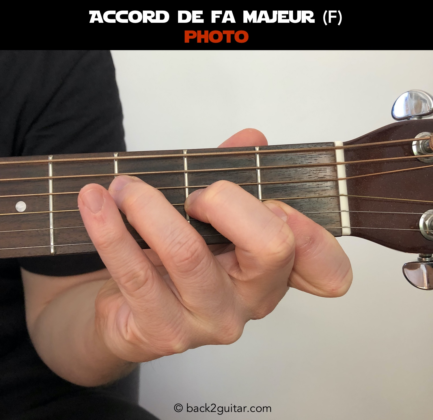 accord guitare fa majeur photo (F)