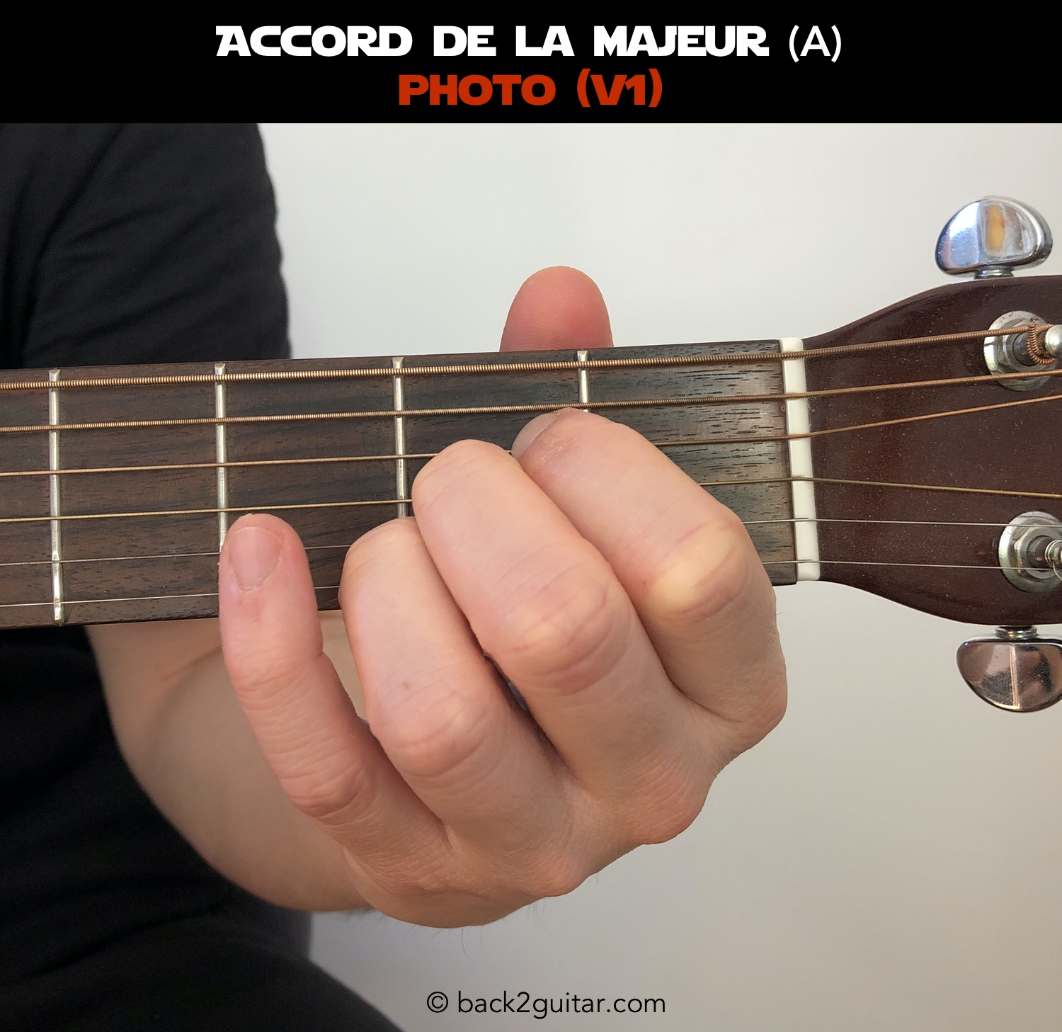 accord guitare la majeur photo V1 (A)