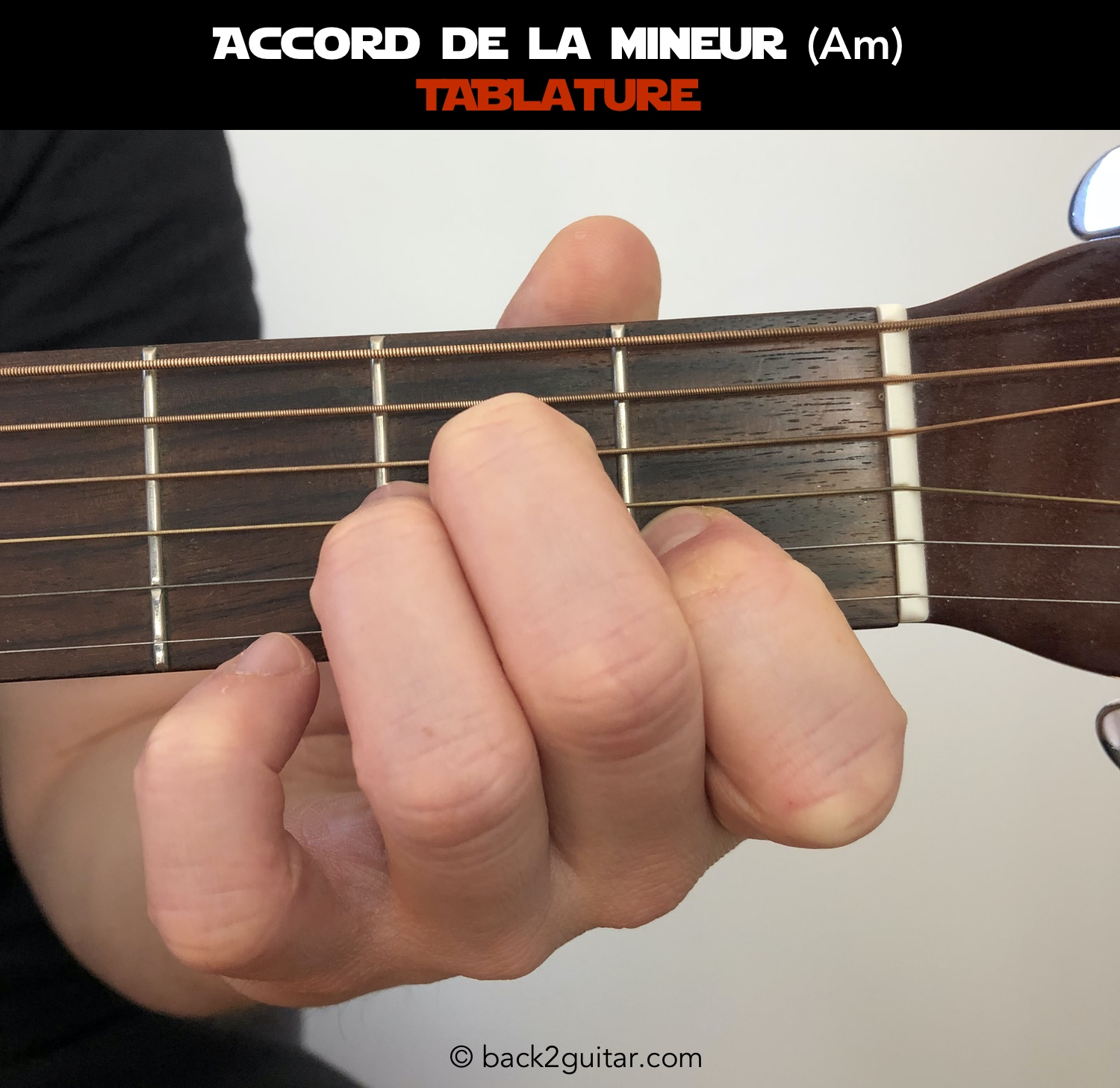 accord guitare la mineur photo (Am)