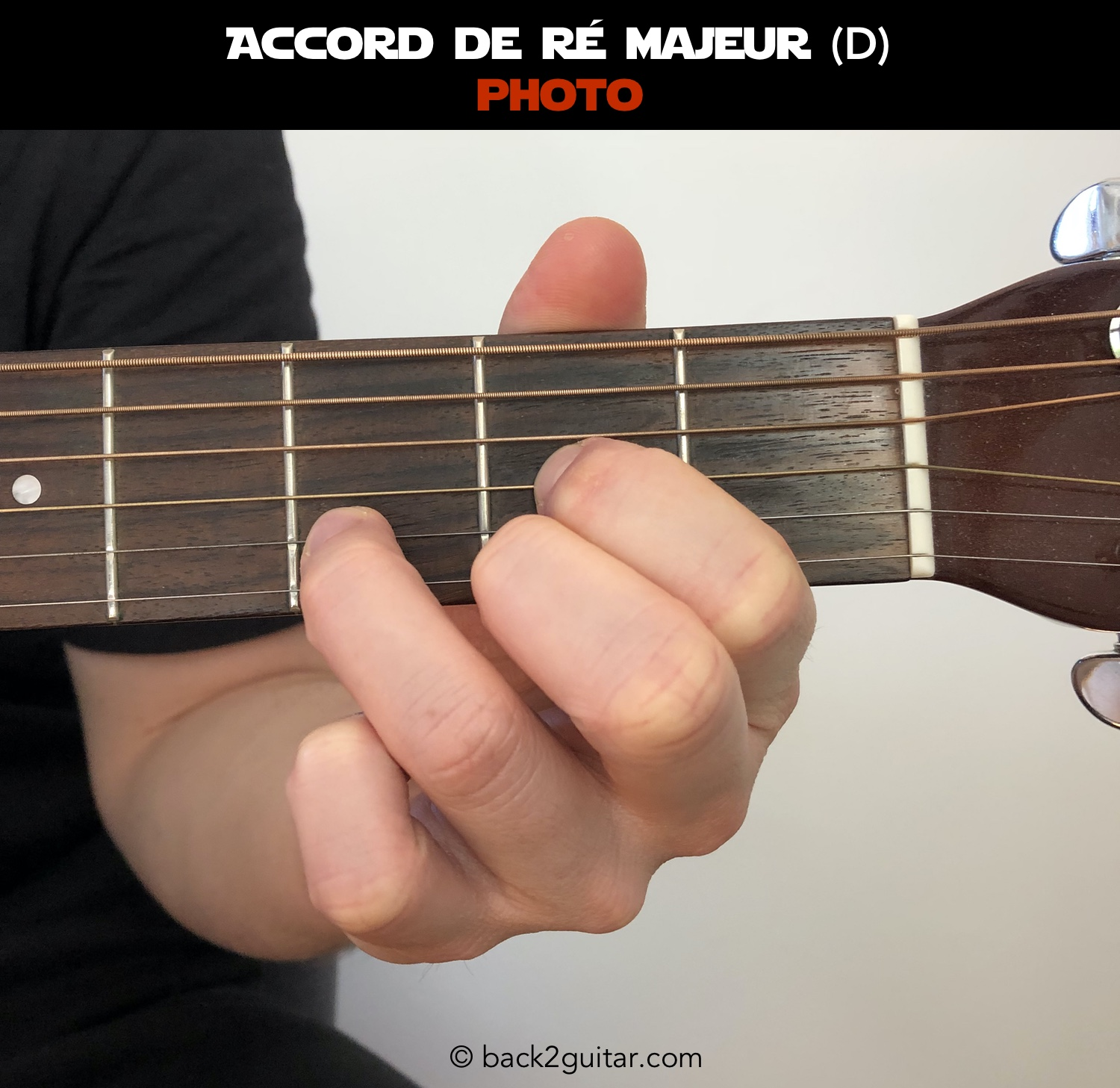 accord guitare ré majeur photo (D)
