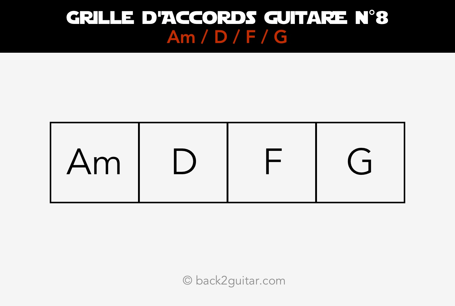 grille accords guitare 8 am d f g