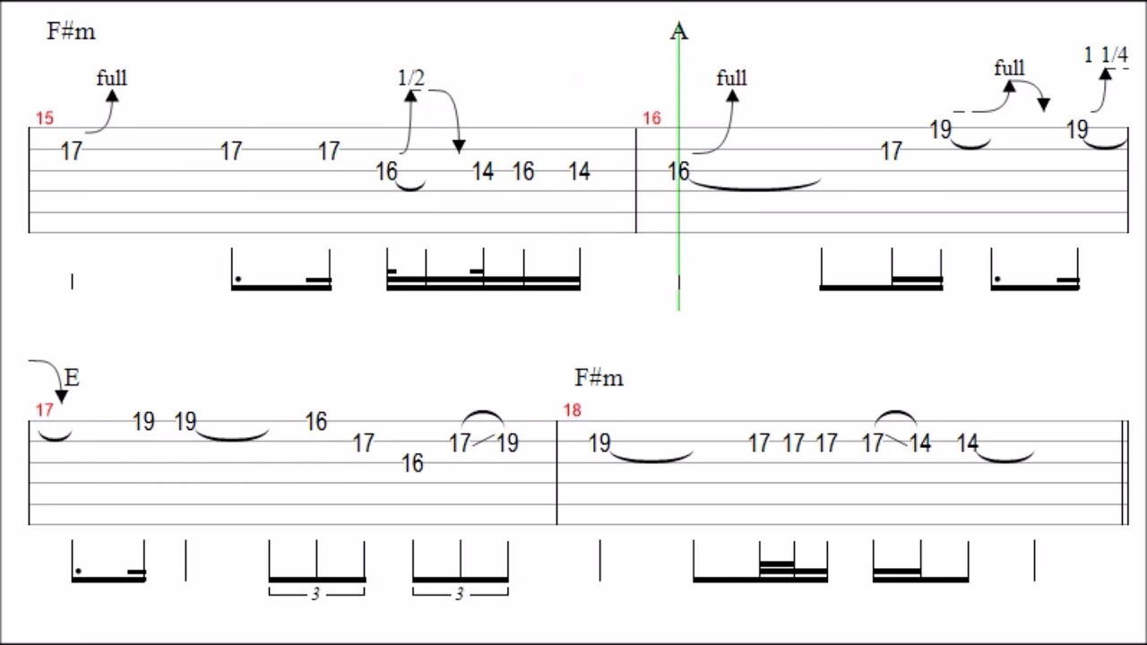 solo de guitare en tablature