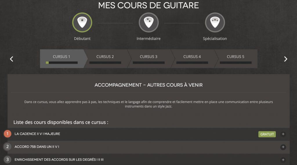 liste des cours de guitare hguitare