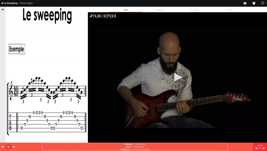 cours de guitare imusic school pascal vigné