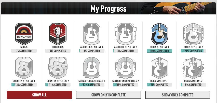 gamification guitar tricks