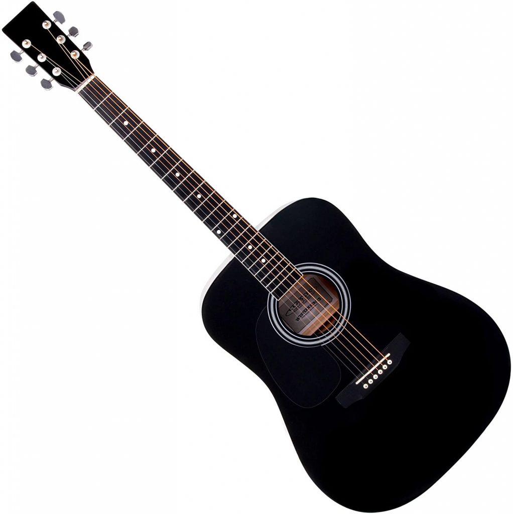 classic cantabile ws-10bk-lh guitare folk gaucher