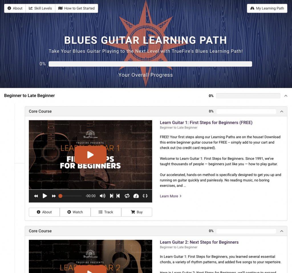 parcours pédagogique blues truefire